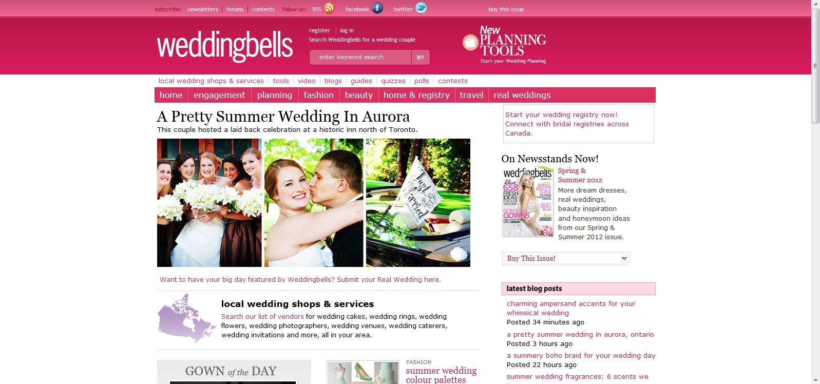 Wedding Bells featured Amanda and Andrew