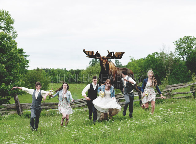 Moose chasing wedding party www.jnphotography.ca @filemanager