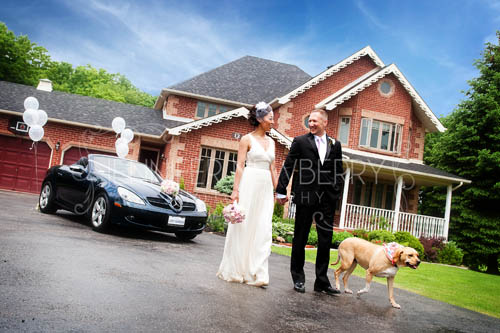 Bride and groom with Mercedes www.jnphotography.ca @filemanager