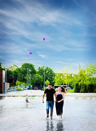 Newmarket engagement photo at splash park - www.jnphotography.ca @filemanager