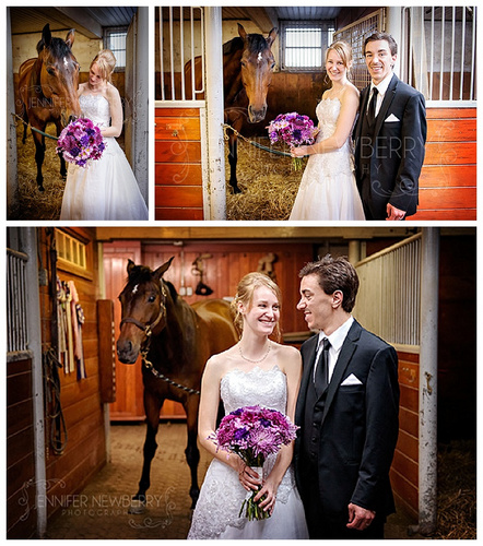 Bride and groom with a horse by www.jnphotography.ca @filemanager