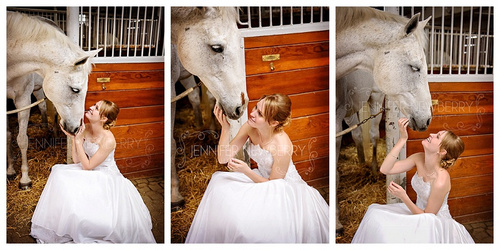 Bride with horse by www.jnphotography.ca @filemanager