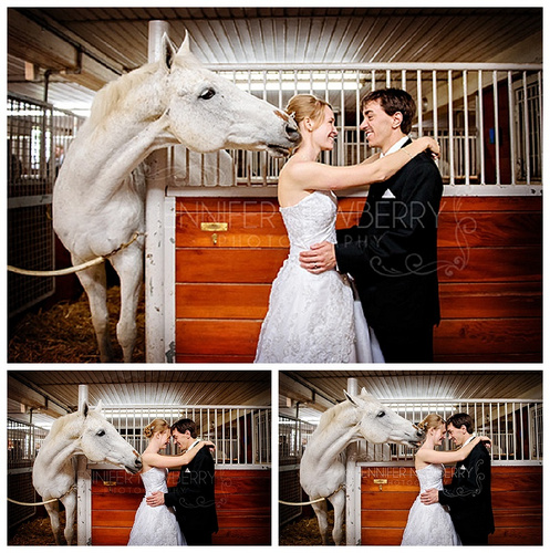 Bride and groom with horse by www.jnphotography.ca @filemanager