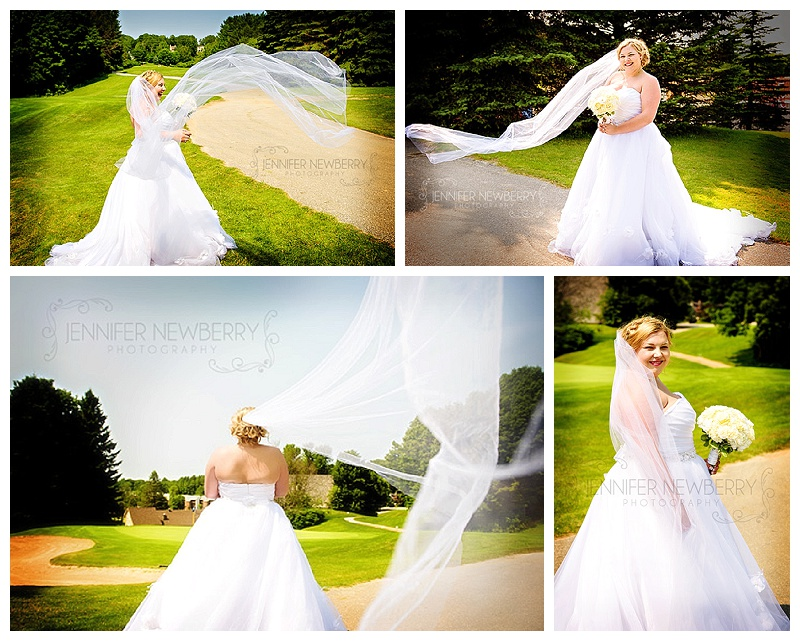 Horseshoe Resort bride with long veil by www.jnphotography.ca @filemanager