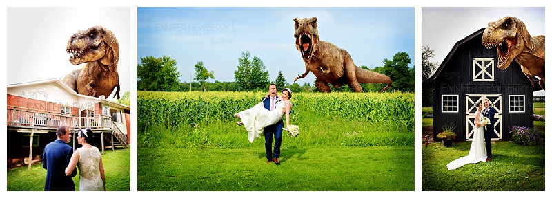 Mount Albert bride and groom with dinosaurs by www.jnphotography.ca @filemanager