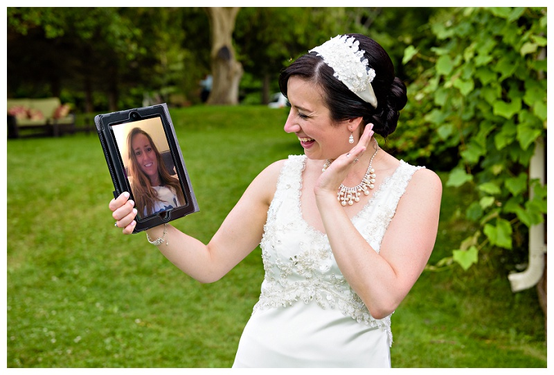 Mount Albert bride on FaceTime or Skype by www.jnphotography.ca @filemanager