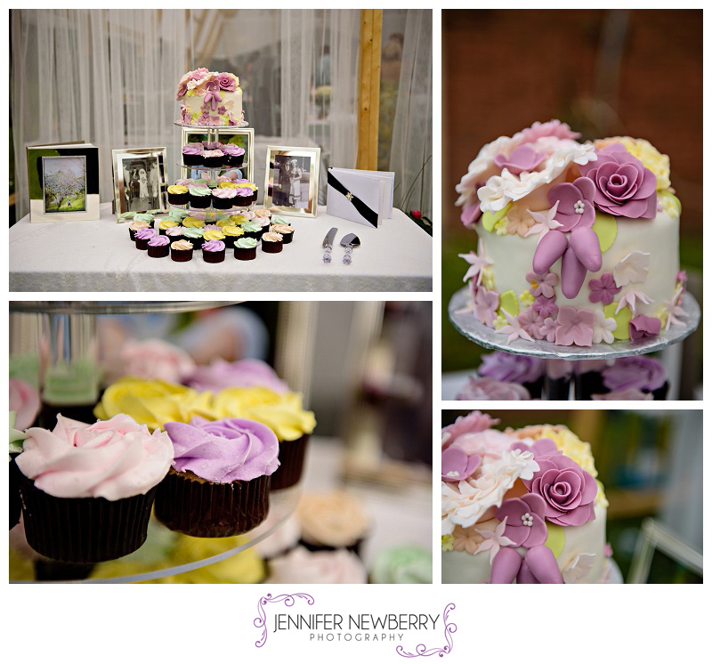 Backyard wedding wedding cake and cupcakes by www.jnphotography.ca @filemanager