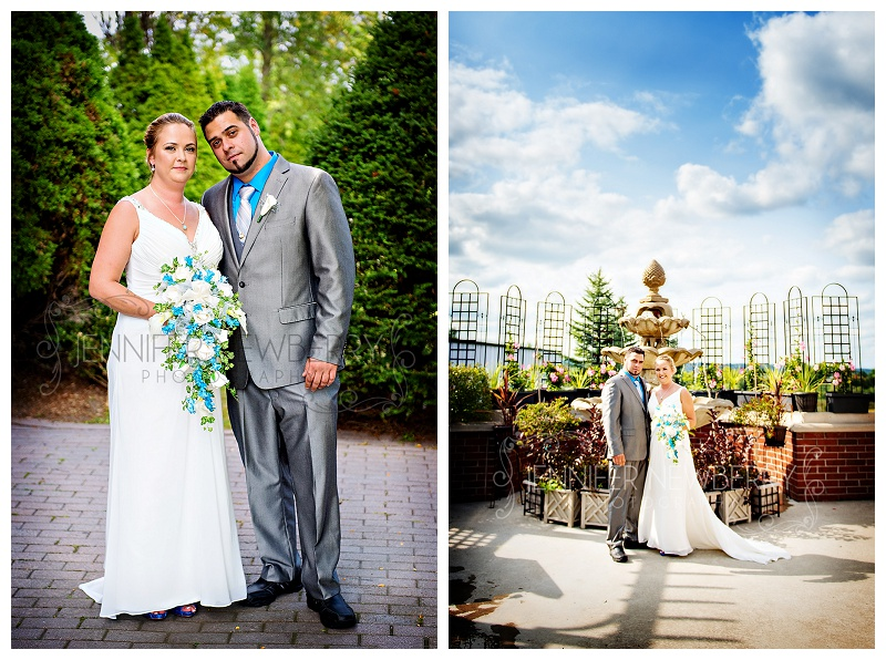 Bride and Groom at the Mansion Events Centre by Aurora wedding photographer Jennifer Newberry. www.jnphotography.ca @filemanager
