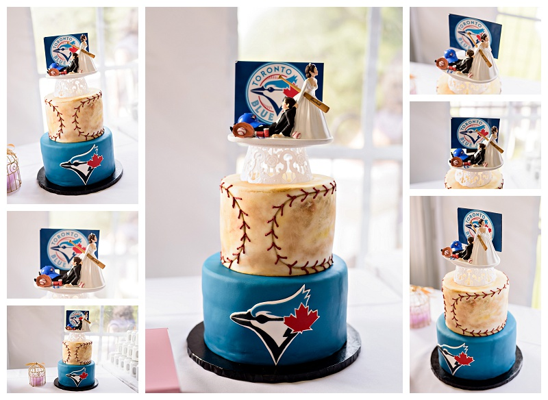 Blue Jays baseball wedding cake. Barrie photography by www.jnphotography.ca @filemanager