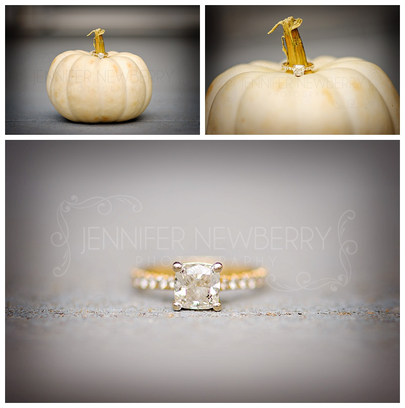 Engagement ring on a white pumpkin photos by Fenelon Falls photographer www.jnphotography.ca @filemanager