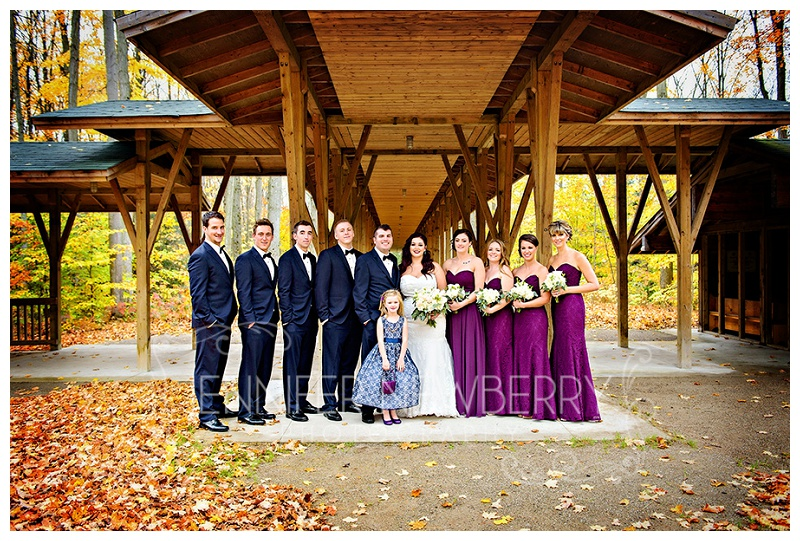 Tiffin Centre for Conservation Fall wedding party by www.jnphotography.ca @filemanager