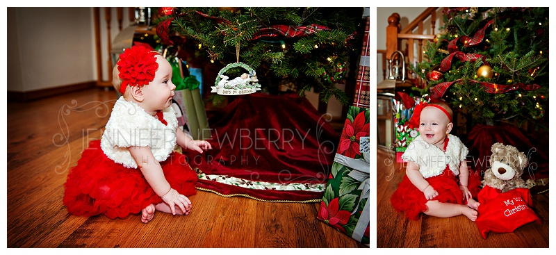 Baby's first Christmas photos by Tottenham baby photographer www.jnphotography.ca @filemanager