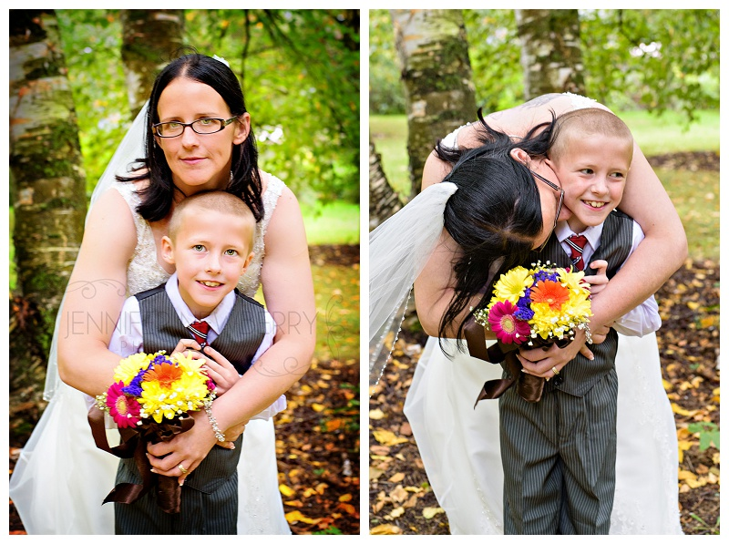 Bradford bride and her son. Photos by Bradford wedding photographer www.jnphotography.ca @filemanager