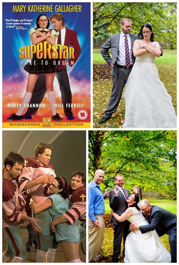 Bradford couple re-enacts Superstar movie. Photos by Bradford wedding photographer www.jnphotography.ca @filemanager