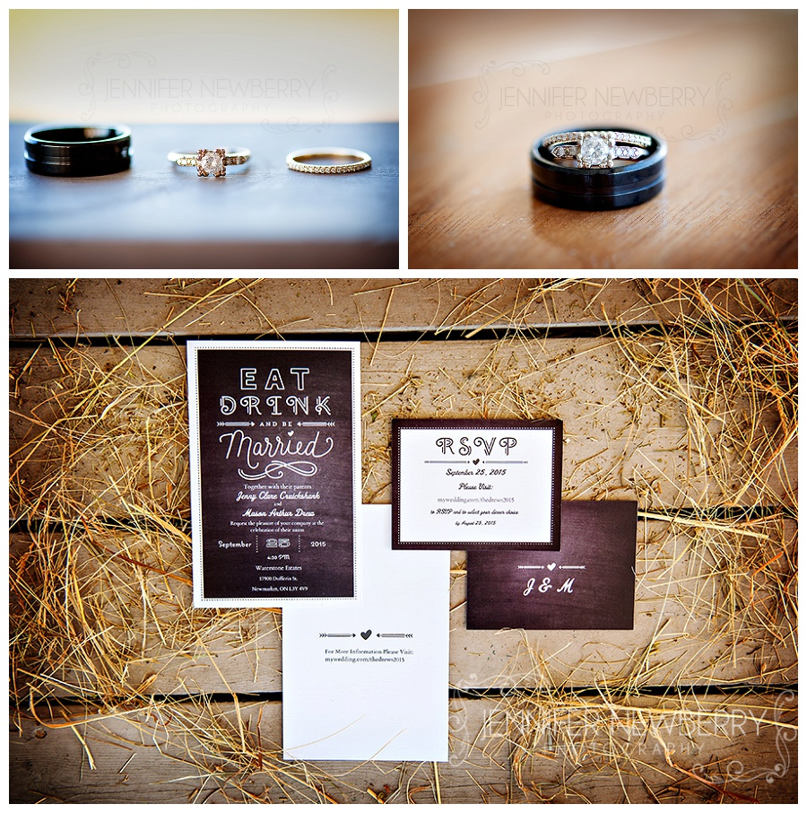 Rings and invitations. Waterstone Estate wedding photos by www.jnphotography.ca @filemanager