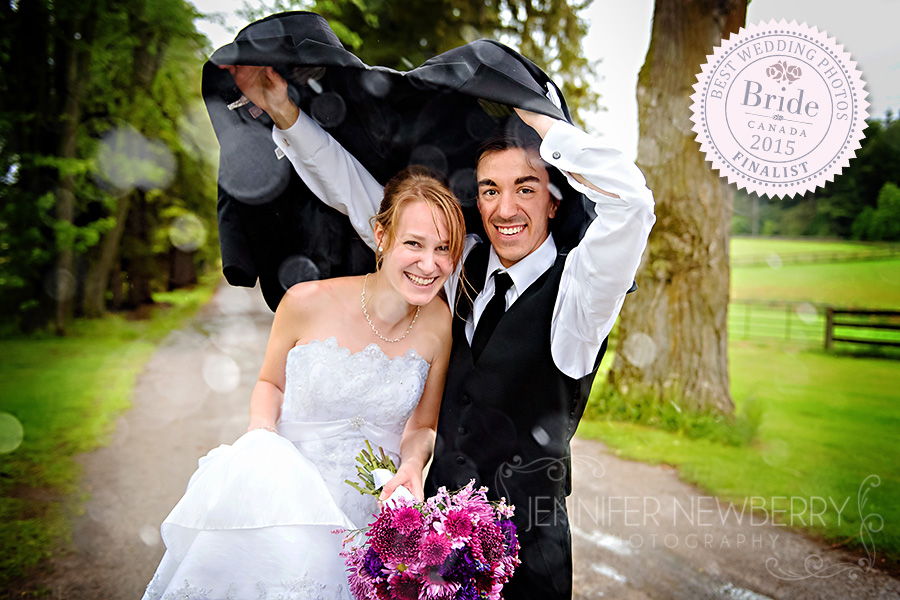 Rainy Aurora wedding photo by Aurora wedding photographer www.jnphotography.ca @filemanager