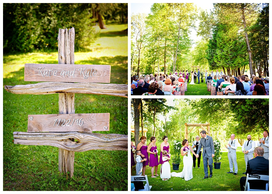 Holland Marsh Wineries outdoor wedding ceremony photos by Newmarket wedding photographer www.jnphotography.ca @filemanager