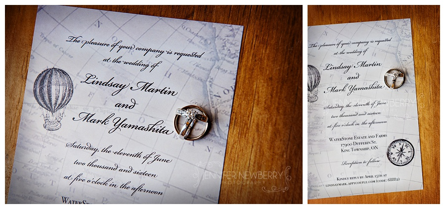 Waterstone wedding invitation photos by Newmarket wedding photographer www.jnphotography.ca @filemanager