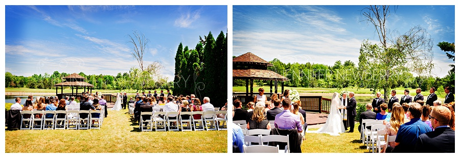 The Manor outdoor wedding ceremony by the gazebo. Photos by The Manor wedding photographer www.jnphotography.ca @filemanager