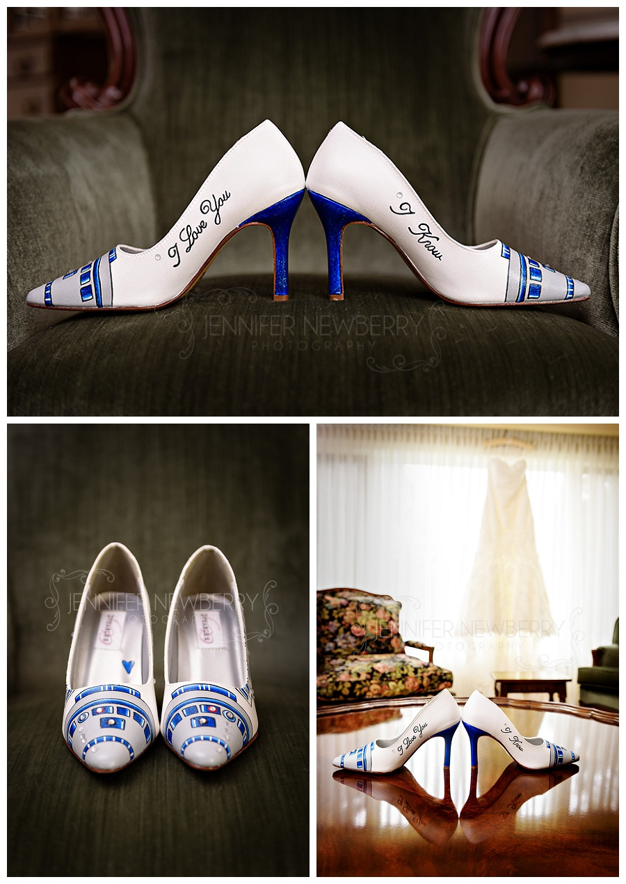 Star Wars wedding shoes photos by Newmarket wedding photographer www.jnphotography.ca @filemanager
