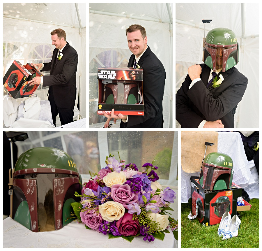 Star Wars Boba Fett Helmet wedding gift photos by www.jnphotography.ca @filemanager