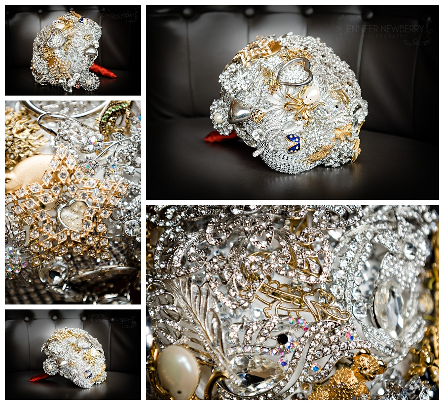 DIY Brooch bouquet photos by The Manor wedding photographer www.jnphotography.ca