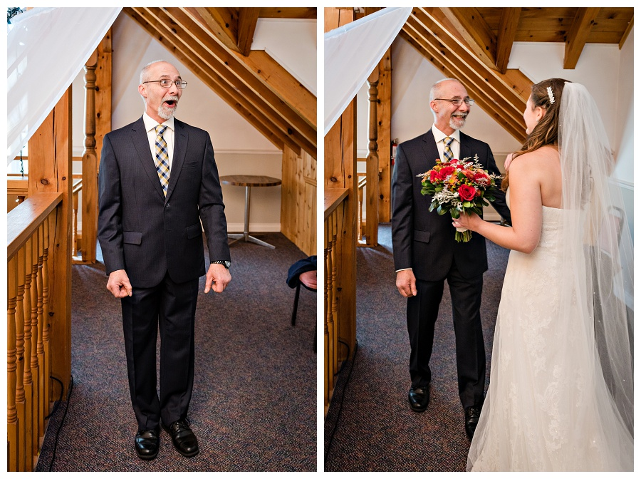Trillium Trails dad's first look photos by Oshawa wedding photographer www.jnphotography.ca @filemanager