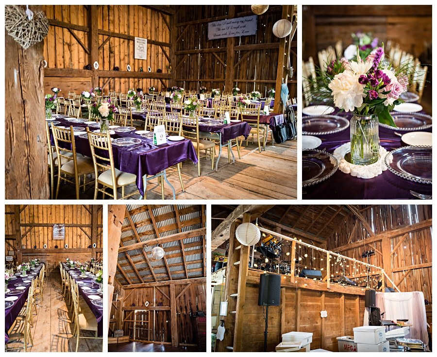 Caledon elegant rustic barn reception decor photos by Caledon wedding photographer, Jennifer Newberry Photography www.jnphotography.ca @filemanager
