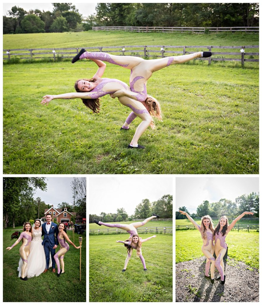 Caledon circus acrobats wedding photos by Caledon wedding photographer, Jennifer Newberry Photography www.jnphotography.ca @filemanager