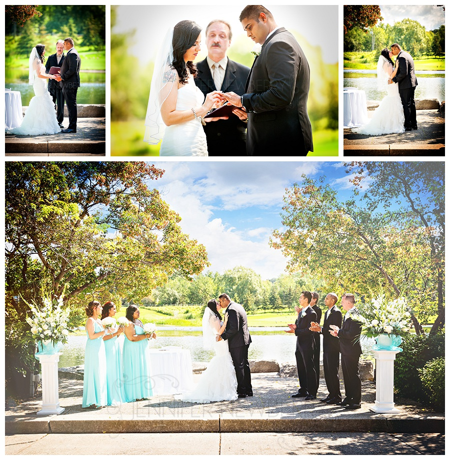 Kettleby Manor wedding photos. Outdoor ceremony photos by Jennifer Newberry Photography