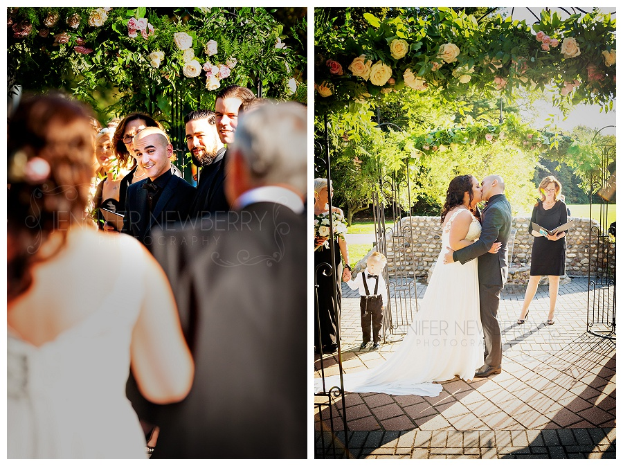 Miller Lash House outdoor wedding ceremony, by Toronto wedding photographer www.jnphotography.ca @filemanager