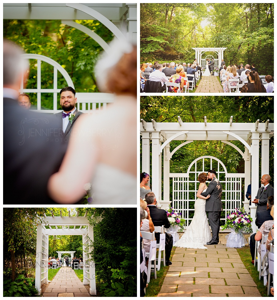 Ancaster Mill outdoor wedding ceremony photos by Hamilton wedding photographer www.jnphotography.ca @filemanager
