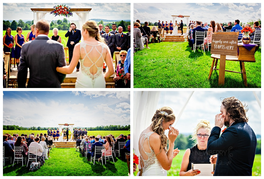 Bradford Barn wedding ceremony photos by Bradford wedding photographer www.jnphotography.ca @filemanager