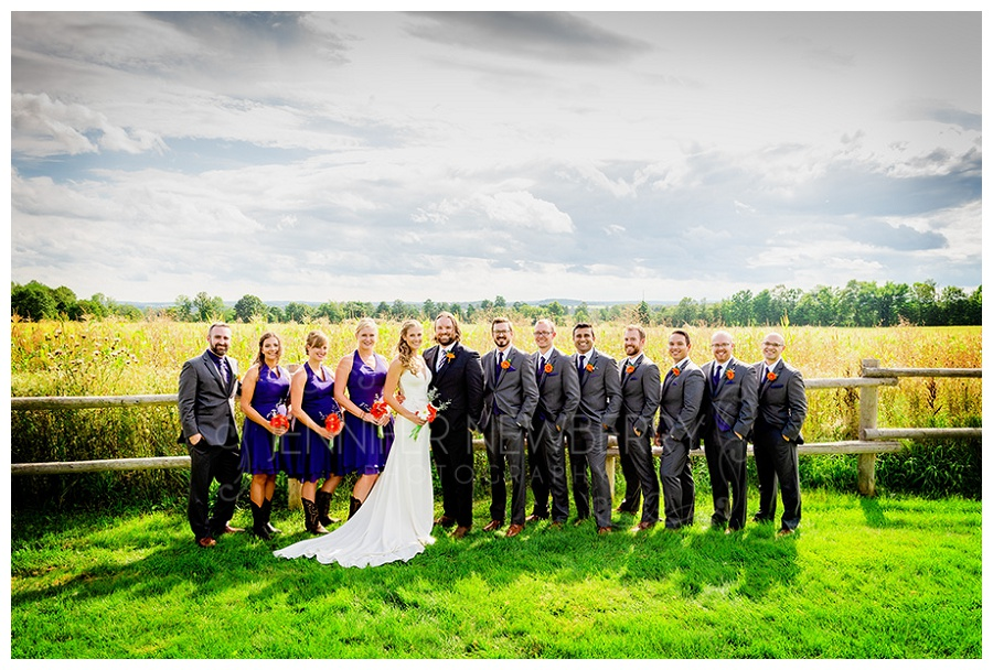 Bradford Barn wedding party photo by Bradford wedding photographer www.jnphotography.ca @filemanager