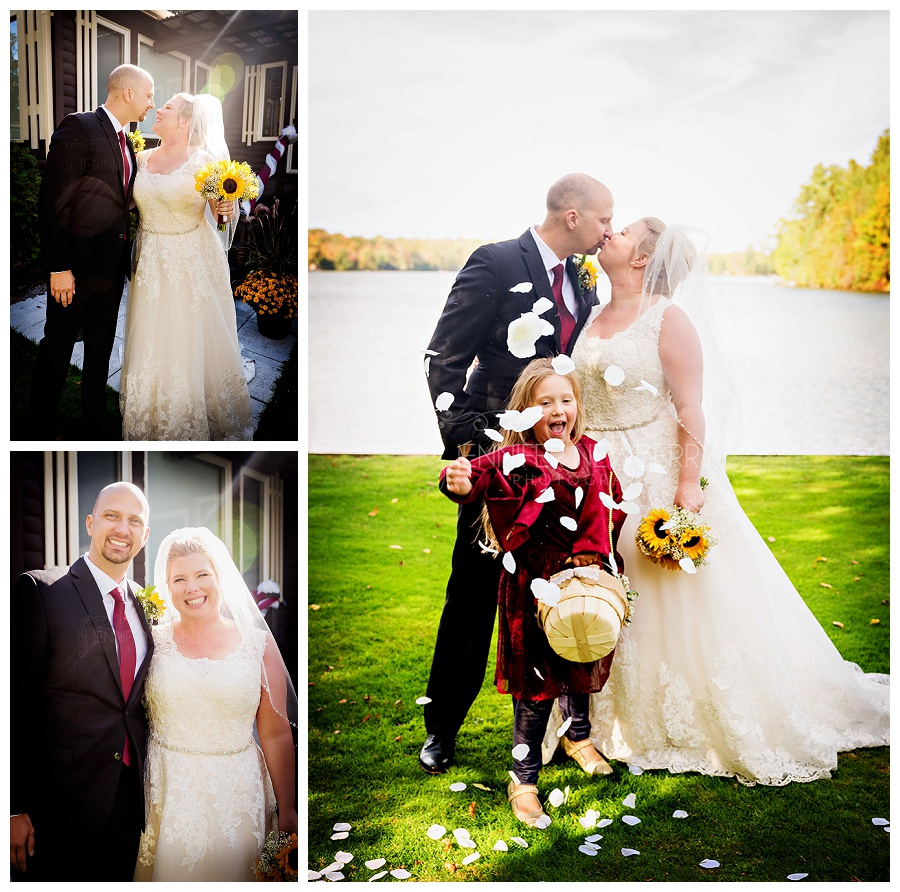 Kawartha Lakes sunflower wedding photos by www.jnphotography.ca