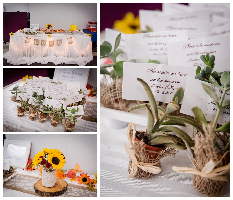 Kawartha Lakes sunflower wedding reception decor photos by www.jnphotography.ca